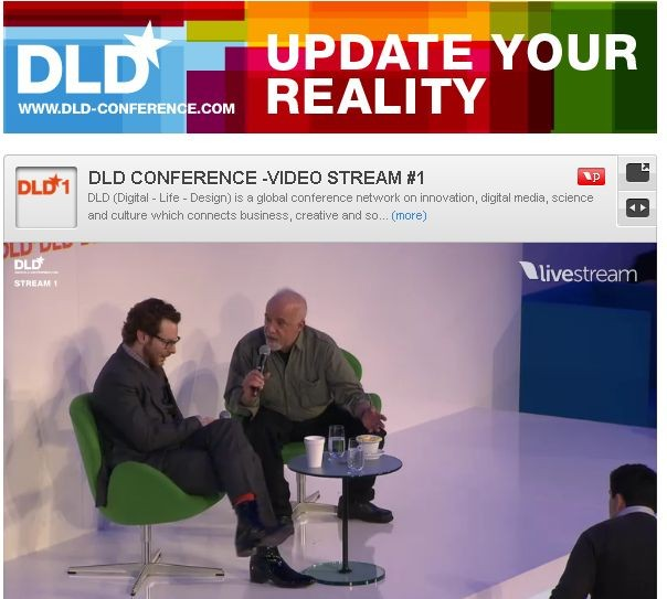 Streaming ideas at DLD Conference today and tomorrow